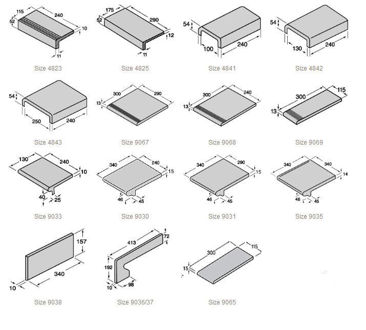 Клинкерные ступени и элементы лестниц
