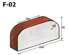 Фигурный клинкерный кирпич F-02