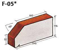 Фигурный клинкерный кирпич F-05