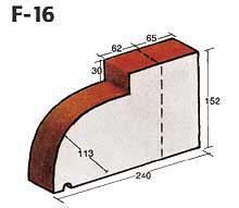 Фигурный клинкерный кирпич F-16