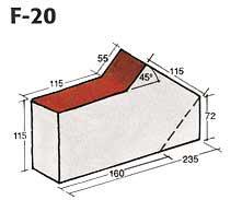 Фигурный клинкерный кирпич F-20