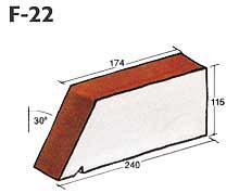 Фигурный клинкерный кирпич F-22