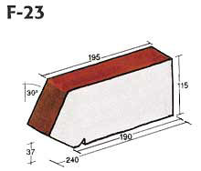 Фигурный клинкерный кирпич F-23