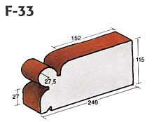 Фигурный клинкерный кирпич F-33