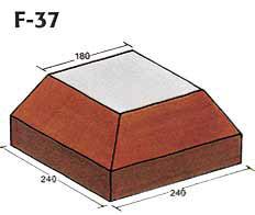 Фигурный клинкерный кирпич F-37