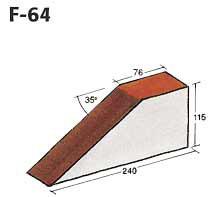 Фигурный клинкерный кирпич F-06
