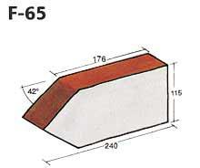 Фигурный клинкерный кирпич F-65
