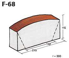 Фигурный клинкерный кирпич F-68
