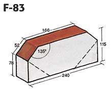 Фигурный клинкерный кирпич F-83
