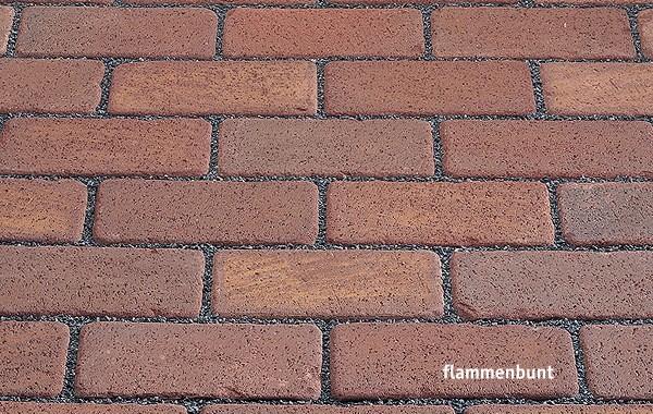 Клинкерная брусчатка Kerawill. Серия Keratique _цвет flammenbunt