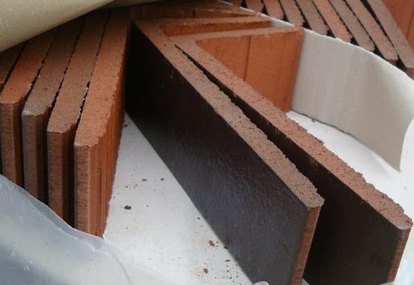 Клинкерная фасадная плитка, угловой элемент