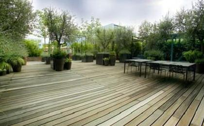 terrasnaya doska iz drevesinyi
