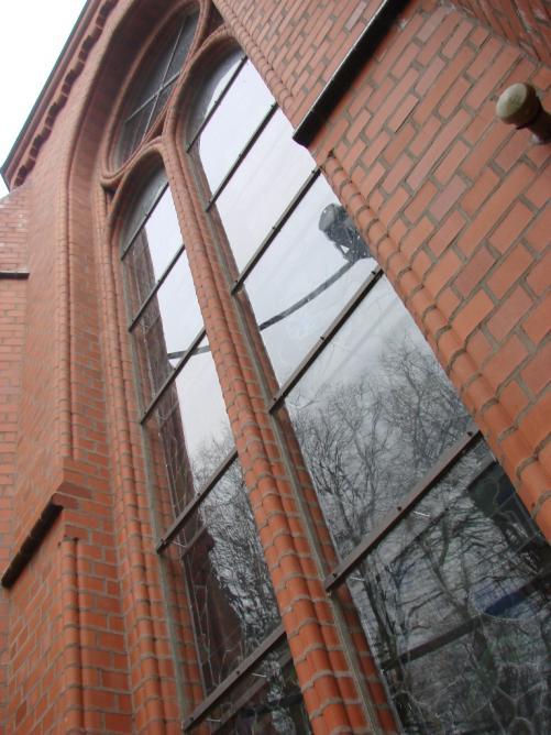 Красивый фасад из кирпича